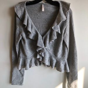 Aqua brand, grey cashmere sweater.